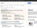 Rozšířené sitelinky u brandu zalando (google.de)